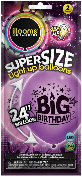 Pink and Purple big birthday 2 pack