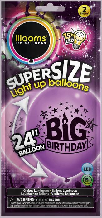 Pink and Purple big birthday 2 pack
