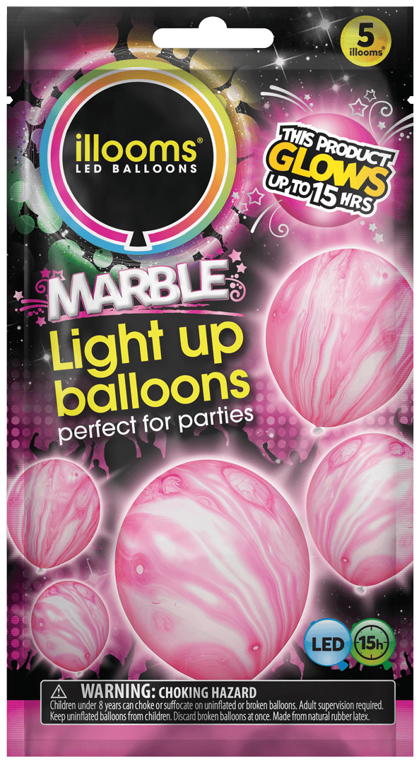 Pink Marble 5 Pack