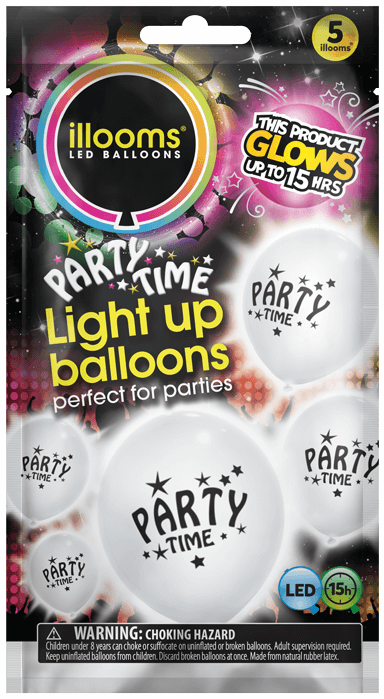 Party Time 5 pack white